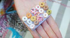 Mini Rainbow Donuts.