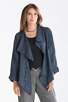 Wrap Jacket: Cynthia Ashby: Linen Jacket | Artful Home