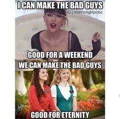 We can make the bad guys good for eternity Funny Church Memes, Funny Mormon Memes, Church Jokes, Lds Memes, Lds Church, Lds Quotes, Funny Quotes, Church Ideas, Funny Christian Memes