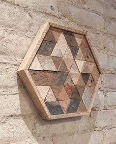 Arte de pared de madera reciclada Decor o bandeja de la