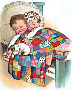 Cross Stitch Baby, Cross Stitch Embroidery, Good Night All, Diamond Drawing, Kits For Kids, Cross Paintings, Inspiration For Kids, Vintage Greeting Cards, Cozy Bed