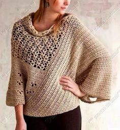 Crochet sweater. Not in English, but usable charts.
