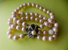 1950s Vintage Art Deco 3-strand Simulated Pearl by RAKcreations