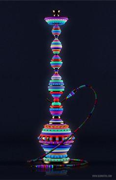 Fluorescent hookahs - Igor Mitin