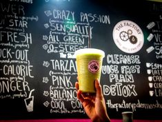 The Palermo Detox Cleanse: Jugoterapia at The Factory Juice Bar - Pick Up The Fork Lunch Specials, Cleanse, Latte, Juice, How To Plan, Tableware, Google, Juice Bars, Buenos Aires