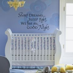 baby room wall vinyl quote
