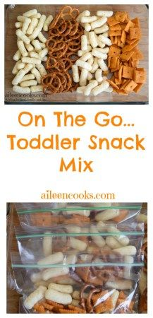 Easy and healthy toddler snack mix perfect for when you're running around and short on time #ad