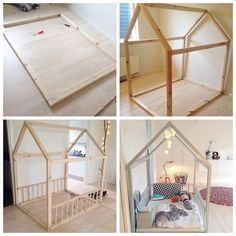 kids bed like a house - Google Search