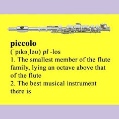 Piccolo definition post cards by Instrumentals