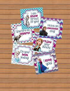 Instant Downoad Lunch Box Notes Cards Back To School by susanefird