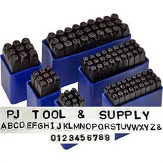 $49.95 Deluxe Number + Alphabet Letter Stamps Set