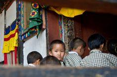 Kid at Yoezerling School in Bhutan