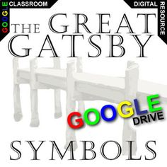 The Great Gatsby Symbols can be difficult for learners. Using this sweet-looking graphic organizer, they will analyze 6 key symbols/motifs from the novel The Great Gatsby. They will make note of 2-3 key quotes about each symbol. Then they will analyze what deeper meaning the symbol means in the novel.What is Created for Digital?