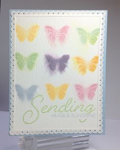 Crafting While I Wait: Water Colored Butterflies & Blog Hopping with PTI