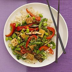 Orange-Soy Tofu Stir-Fry – Chinese Recipes – Woman's Day Cooking Tofu, Asian Cooking, Vegetarian Recipes, Cooking Recipes, Healthy Recipes, Locarb Recipes, Wok Recipes, Eat Healthy, Cooking Ideas