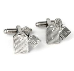 Black /& White I Have A Bad Feeling About This Cufflinks With Gift Pouch New
