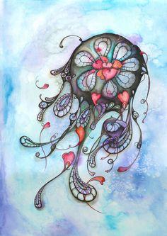 illustrazione disegno quadro dipinto acquarello di Luciana-Torre-SHOP.dawanda.com