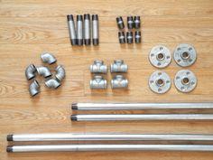 Industrial-Chic Clothes Rack. Ref. source: http://thecraftsdept.marthastewart.com/2013/04/plumbing-pipe-rack-tutorial.html