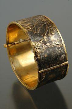 Steel and Brass Cuff Bracelet by Nick Mullins