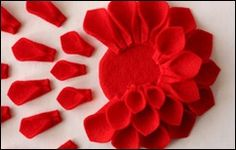 @Myrah Newberry. Here is the tutorial on how to make felt dahlias, if you are interested.