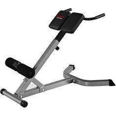 Sunny Health & Fitness SF-BH6504 Hyperextension Roman Chair, Silver