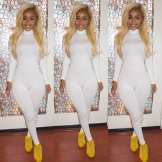 """""""Looking like a glass of milk  Jumpsuit @klosetenvy  Shoes Adidas"""""""
