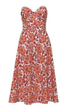 Meditate In Flowers Silk Midi Dress by JOHANNA ORTIZ for Preorder on Moda Operandi