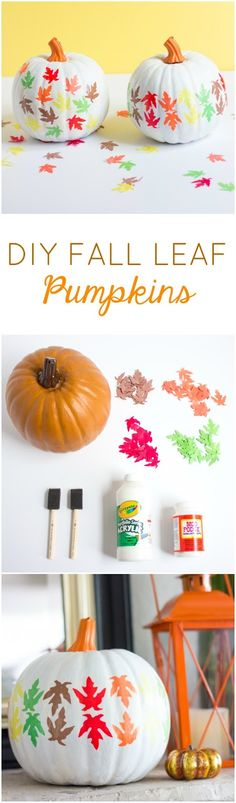 DIY Fall Leaf Pumpkins   Design Improvised
