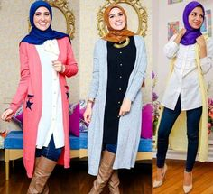maxi long cardigans looks, Egyptian hijab collection by NK designs http://www.justtrendygirls.com/egyptian-hijab-collection-by-nk-designs/