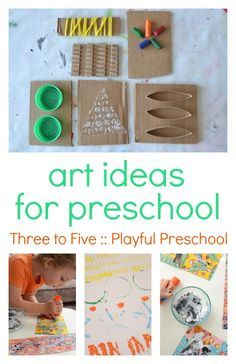 Gorgeous and easy art ideas for preschool :: preschool art projects using simple materials