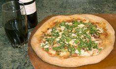 Capocollo Pizza with a 2010 Red Bordeaux