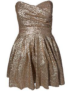 Turlington Sequin Dress - TFNC - Gull - Festkjoler - Klær - NELLY.COM Mote online - MINE