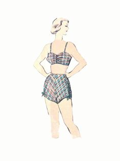 Uncut Advance 5127 Late 1940s Two piece dress, bra-top, bloomers,swimssuit  and blouse Peplum, Dart Fitted, Vintage Sewing Pattern Bust 32 Two Piece Dress, Vintage Sewing Patterns, Bra Tops, 1940s, Bathing Suits, Peplum, Dress Bra, Suit Pattern, Princess Zelda