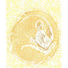 Hazel Dormouse - Original Hand Pulled Linocut Print