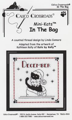 """Calico Crossroads Kats By Kelly - Mini Kats """"In The Bag"""" - December 2006"""