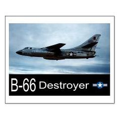 B-66 Destroyer Bomber Small Poster> B-66 Destroyer Bomber > Zoom Wear #Posters #Aircraft