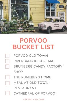 Are you thinking of visiting Porvoo when traveling to Finland? Great choice and just 50 minutes from Helsinki! This posts tells you how to spend a relaxed day in Porvoo, what things to do and see! Finland Destinations, Amazing Destinations, Travel Destinations, Old Town Restaurant, Finland Summer, Usa Places To Visit, Finland Travel, Enjoy Your Vacation, Travel Couple