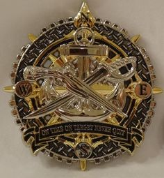 Naval Special Warfare SWCC Compass Challenge Coin / SEAL / NON - CPO / Navy NSW