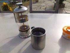 French Pressed Himalayan Organic Coffee, tastes good :), very smooth #trekking #Gurung #village #Ghandruk #Ghandrung #hospital #travel #coffee