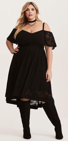Plus Size Hi-Lo Dress