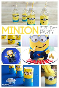 Minion Birthday Party Planning Ideas #Minions	and	 #QuickerPickerUpper