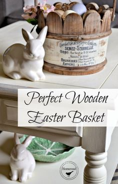 Wooden Easter Basket and a Transfer Method www.homeroad.net