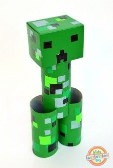 toilet roll minecraft craft for kids