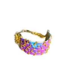 The Galaxy Ombre Leather Cuff by JewelMint.com, $62.00