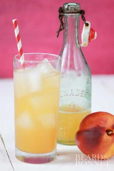 Homemade Ginger Peach Soda {Beard and Bonnet} #glutenfree #vegan