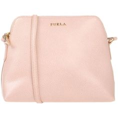 Furla Cross-body Bag ($140) ❤ liked on Polyvore featuring bags, handbags, shoulder bags, pink, leather crossbody, shopping bag, leather shopper, pink leather purse and pink shoulder bag