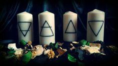 Guarda questo articolo nel mio negozio Etsy https://www.etsy.com/it/listing/474710086/elemental-ritual-candles-kit