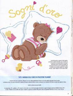 Cross Stitch Baby, Cross Stitch Flowers, Minnie Baby, Canvas Crafts, Winnie The Pooh, Needlework, Teddy Bear, Disney Characters, Kids