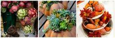 Ideias criar arranjos de mesa no outono