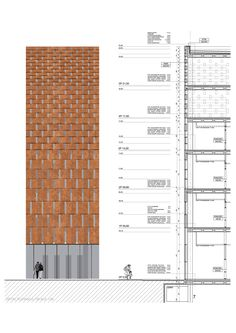 Interesting Find A Career In Architecture Ideas. Admirable Find A Career In Architecture Ideas. Texture Architecture, Parametric Architecture, Brick Architecture, Architecture Details, Building Skin, Building Facade, Brick Design, Facade Design, Brick Facade